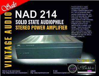 Buy Vintage NAD 214 SOLID STATE AUDIOPHILE STEREO POWER