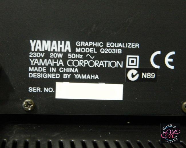 Buy Vintage YAMAHA Q2031B RACKMOUNT 31 BAND GRAPHIC EQUALISER Sale